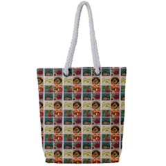 Victorian Fruit Labels Full Print Rope Handle Tote (small)