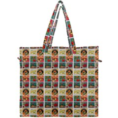 Victorian Fruit Labels Canvas Travel Bag