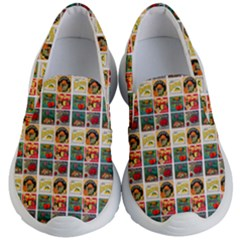 Victorian Fruit Labels Kid s Lightweight Slip Ons by snowwhitegirl