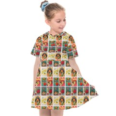 Victorian Fruit Labels Kids  Sailor Dress