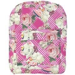 Retro Pets Plaid Pink Full Print Backpack