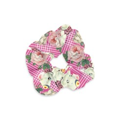 Retro Pets Plaid Pink Velvet Scrunchie