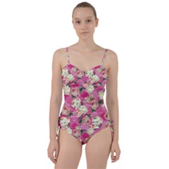 Retro Pets Plaid Pink Sweetheart Tankini Set