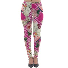 Retro Pets Plaid Pink Lightweight Velour Leggings