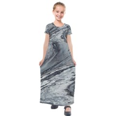 Edge Of A Black Hole Kids  Short Sleeve Maxi Dress