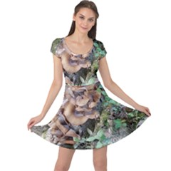 Abstract Of Mushroom Cap Sleeve Dress by canvasngiftshop