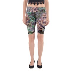 Abstract Of Mushroom Yoga Cropped Leggings