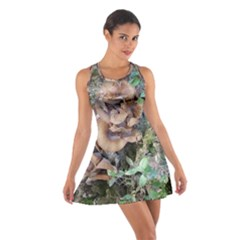 Abstract Of Mushroom Cotton Racerback Dress by canvasngiftshop