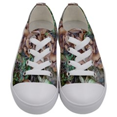 Abstract Of Mushroom Kids  Low Top Canvas Sneakers