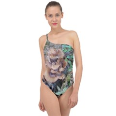 Abstract Of Mushroom Classic One Shoulder Swimsuit by canvasngiftshop