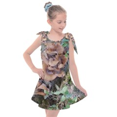 Abstract Of Mushroom Kids  Tie Up Tunic Dress by canvasngiftshop