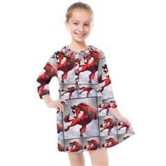 1 Kids  Quarter Sleeve Shirt Dress