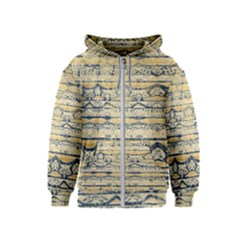 Blue Jean On Gold Seamless Nature Bigger By Flipstylez Designs Kids  Zipper Hoodie by flipstylezdes