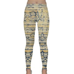Blue Jean On Gold Seamless Nature Bigger By Flipstylez Designs Classic Yoga Leggings by flipstylezdes