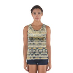Blue Jean On Gold Seamless Nature Bigger By Flipstylez Designs Sport Tank Top