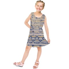 Blue Jean On Gold Seamless Nature Bigger By Flipstylez Designs Kids  Tunic Dress by flipstylezdes