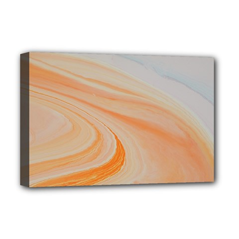 Orange And Blue 2 Deluxe Canvas 18  X 12  (stretched) by WILLBIRDWELL
