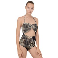 Orchid Scallop Top Cut Out Swimsuit
