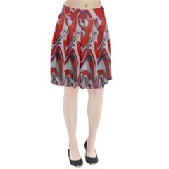 Elegant Red Swirls By Flipstylez Designs Pleated Skirt