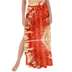 Seamless Red And Gold By Flipstylez Designs Maxi Chiffon Tie Up Sarong