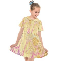 Gold Seamless Lace Tropical Colors By Flipstylez Designs Kids  Short Sleeve Shirt Dress