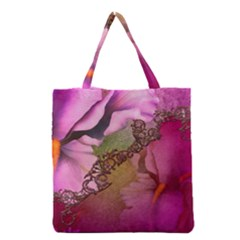 Flowers In Soft Violet Colors Grocery Tote Bag