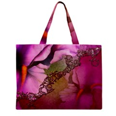 Flowers In Soft Violet Colors Zipper Mini Tote Bag