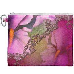 Flowers In Soft Violet Colors Canvas Cosmetic Bag (xxxl) by FantasyWorld7