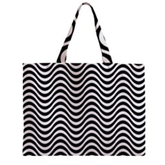 Wave Pattern Wavy Water Seamless Zipper Mini Tote Bag by Nexatart