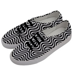 Wave Pattern Wavy Water Seamless Men s Classic Low Top Sneakers by Nexatart