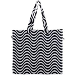 Wave Pattern Wavy Water Seamless Canvas Travel Bag