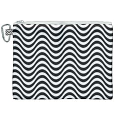 Wave Pattern Wavy Water Seamless Canvas Cosmetic Bag (xxl) by Nexatart