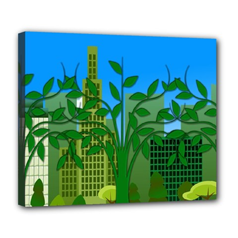 Environmental Protection Deluxe Canvas 24  X 20  (stretched)