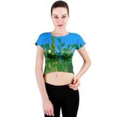 Environmental Protection Crew Neck Crop Top