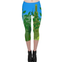 Environmental Protection Capri Leggings