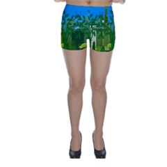 Environmental Protection Skinny Shorts
