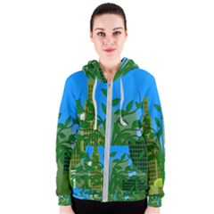 Environmental Protection Women s Zipper Hoodie