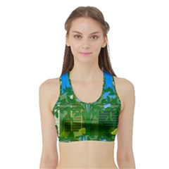 Environmental Protection Sports Bra With Border
