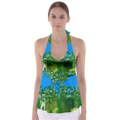 Environmental Protection Babydoll Tankini Top