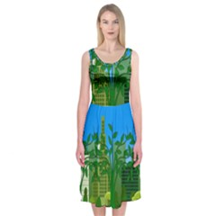 Environmental Protection Midi Sleeveless Dress