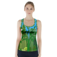 Environmental Protection Racer Back Sports Top
