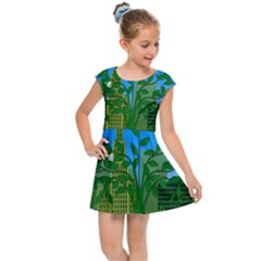 Environmental Protection Kids Cap Sleeve Dress
