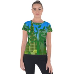 Environmental Protection Short Sleeve Sports Top  by Nexatart