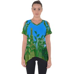 Environmental Protection Cut Out Side Drop Tee