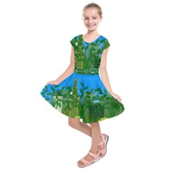 Environmental Protection Kids  Short Sleeve Dress