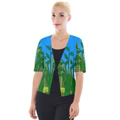 Environmental Protection Cropped Button Cardigan