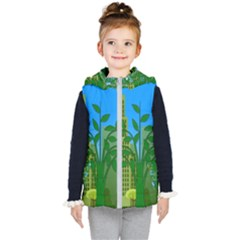 Environmental Protection Kid s Hooded Puffer Vest