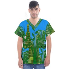 Environmental Protection Men s V Neck Scrub Top