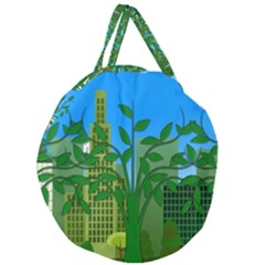 Environmental Protection Giant Round Zipper Tote