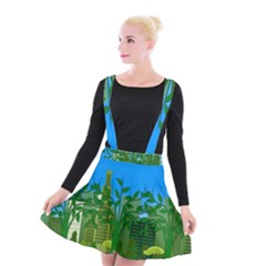 Environmental Protection Suspender Skater Skirt